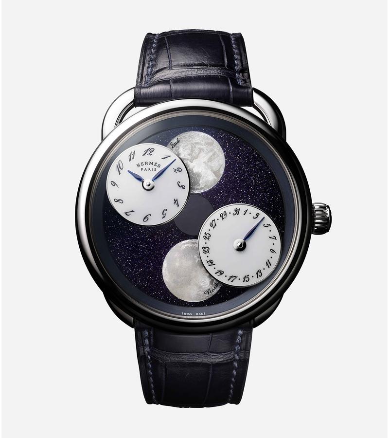 best service a6b64 edca4 エルメスの新作は月と地球!? SIHH 2019の新作腕時計3選 | メンズ ...